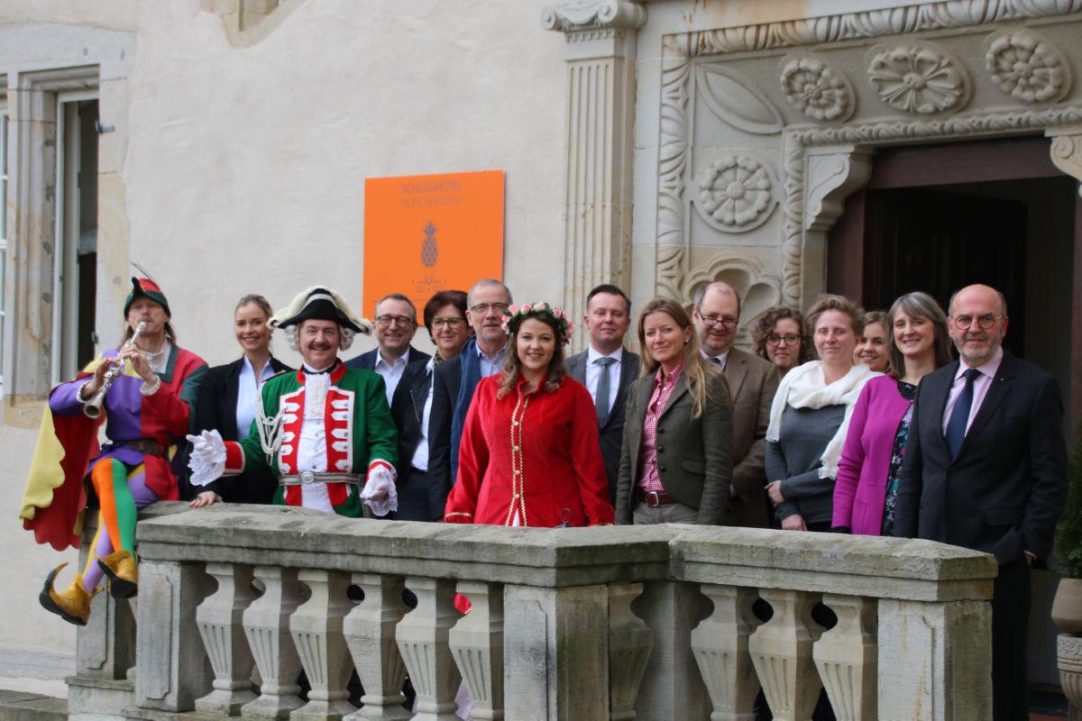 Pressekonferenz 'Sieben Schlösser kooperieren mit der Deutschen Märchenstraße' am 21. Februar 2019 im Schlosshotel Münchhausen