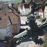 Schloss Hämelschenburg - Blick vom Schloss ins Altdorf