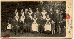 Household staff photograph circa 1890. Image shot 1890. Exact date unknown.